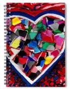Mosaic Heart Spiral Notebook