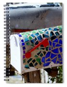 Mosaic Mailbox On The Turquoise Trail In New Mexico Spiral Notebook