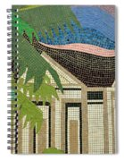 Mosaic Of Church With Palm Tree Spiral Notebook