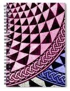 Mosaic Quarter Circle Bottom Right  Spiral Notebook