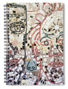 Mosaic Tiles On South Street Spiral Notebook