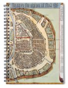 Moscow: Map, 1662 Spiral Notebook