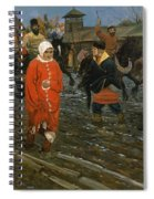 Moscow Street On A Public Holiday Spiral Notebook