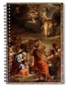 Moses Descends From Mount Siniai With The Ten Commandments Spiral Notebook