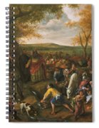 Moses Striking The Rock Spiral Notebook