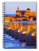 Mosque-cathedral And The Roman Bridge In Cordoba Spiral Notebook