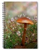 Moss Bokeh Spiral Notebook