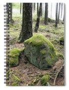Moss-covered Boulder Spiral Notebook