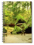 Moss Covered Rocks In Forest, Rocky Spiral Notebook