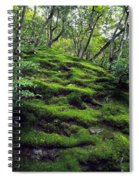 Moss Forest In Kyoto Japan Spiral Notebook