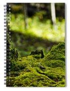 Mossy Log Spiral Notebook