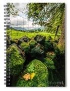 Mossy Wall Spiral Notebook