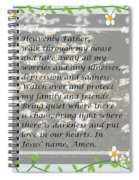 Most Powerful Prayer With Daisies Spiral Notebook