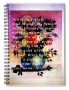Most Powerful Prayer With Flowers In A Vase Spiral Notebook