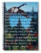Most Powerful Prayer With Goose Flying And Autumn Scene Spiral Notebook