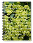 Most Powerful Prayer With Ladies Mantle Spiral Notebook