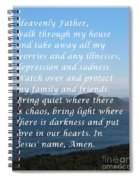 Most Powerful Prayer With Ocean View Spiral Notebook