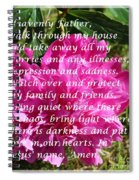 Most Powerful Prayer With Peony Bush Spiral Notebook