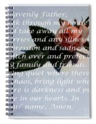 Most Powerful Prayer With Rosebud Spiral Notebook