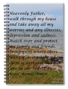 Most Powerful Prayer With Seashore Spiral Notebook