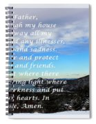 Most Powerful Prayer With Winter Scene Spiral Notebook