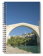 Mostar Bridge In Bosnia Spiral Notebook