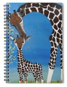 Mother And Baby Giraffe Spiral Notebook
