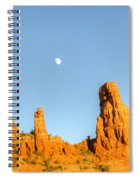 Mother And Child And Moon 25 Spiral Notebook