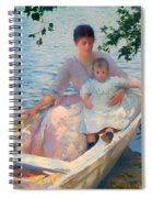 Mother And Child In A Boat Spiral Notebook