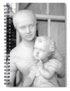 Mother And Child Statue Spiral Notebook