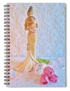 Mother And Child With Pink Tulips Spiral Notebook