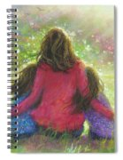 Mother And Twin Girls In Garden Spiral Notebook