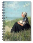 Mother In The Dunes Spiral Notebook