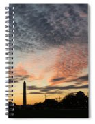 Mother Nature Painted The Sky Over Washington D C Spectacular Spiral Notebook