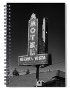 Mother Road Motel Black And White Spiral Notebook