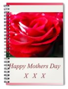 Mothers Day A Red Rose Spiral Notebook