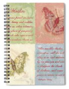 Mothers Day Butterfly Spiral Notebook