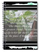 Mother's Day Greeting And Angel Spiral Notebook
