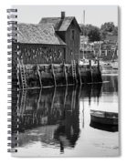 Motif 1 - Bw Spiral Notebook