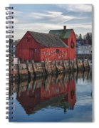 Motifs Long Reflection Spiral Notebook