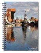 Motlawa River And Port Crane Spiral Notebook