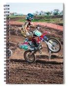 Motocross Rider Spiral Notebook