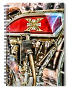 Motorcycle - 1914 Excelsior Auto Cycle Spiral Notebook