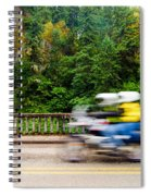 Motorcycle And Green Forest Spiral Notebook