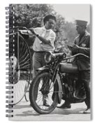 Motorcycle And Velocipede - 1921 Spiral Notebook