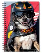 Motorcycle Chihuahua Spiral Notebook