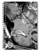 Motorcycle Close-up Bw 2 Spiral Notebook