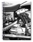 Motorcycle Close-up Bw 3 Spiral Notebook