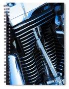 Motorcycle Engine Spiral Notebook
