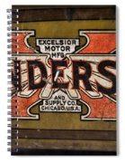 Motorcycle - Henderson Gas Tank Spiral Notebook
